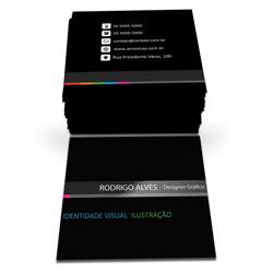 Cartão de Visita - 1.000 unidades - 43x48mm em Couché Fosco 300g - 4x4 - Verniz Localizado Frente -  (cód. 6812)