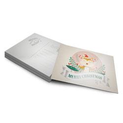 Postal - 1.000 unidades - 105x148mm em Couché Brilho 250g - 4x1 - Verniz Total Brilho F/V -  (cód. 8937)