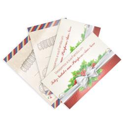 Postal - 1.000 unidades - 88x148mm em Couché Brilho 250g - 4x4 - Verniz Total Brilho F/V -  (cód. 8512)