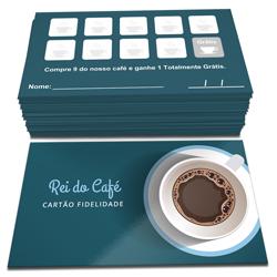 Cartão Fidelidade - 10.000 unidades - 48x88mm em Couché Brilho 300g - 4x4 - Verniz Total Brilho Frente -  (cód. 22799)