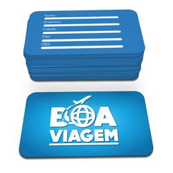 Cartões de Visita - 45x80mm em Couché Fosco 300g - 4x4 - Verniz Localizado Frente - 4 Cantos Arredondados Mini