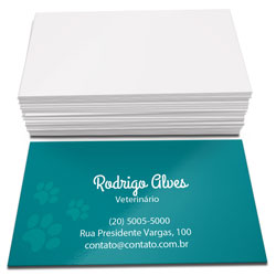 Cartão de Visita - 10.000 unidades - 48x88mm em Couché Brilho 250g - 4x0 - Verniz Total Brilho Frente e Verso -  (cód. 4544)