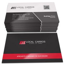Cartão de Visita - 10.000 unidades - 48x88mm em Couché Fosco 300g - 4x1 - Laminação Fosca e Verniz Localizado F/V -  (cód. 4624)