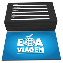 Cartão de Visita - 10.000 unidades - 48x88mm em Couché Brilho 300g - 4x1 - Sem Cobertura -  (cód. 4579)