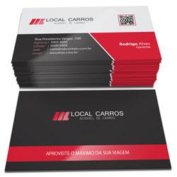 Cartão de Visita - 10.000 unidades - 48x88mm em Couché Fosco 300g - 4x4 - Laminação Fosca e Verniz Localizado F/V -  (cód. 4629)