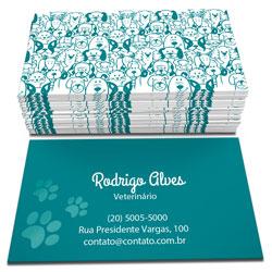Cartão de Visita - 10.000 unidades - 48x88mm em Couché Fosco 300g - 4x4 - Sem Cobertura -  (cód. 13223)