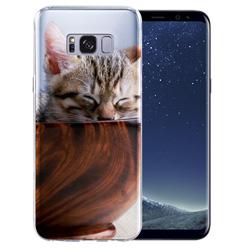 Capinha de Celular Samsung Galaxy S8 - 15 unidades - 67x145mm em PS Transparente  - 4x0 - Sem Cobertura -  (cód. 19450)