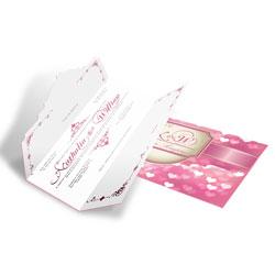 Convite de Casamento Romântico 03 - 150 unidades - 110x210mm em Envelope Perolizado 180g - 4x4 - Sem Cobertura - Faca Padrão (cód. 12658)