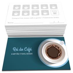 Cartão Fidelidade - 200 unidades - 48x88mm em Couché Brilho 250g - 4x1 - Sem Cobertura -  (cód. 22802)