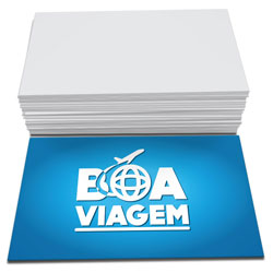 Cartão de Visita - 200 unidades - 48x88mm em Couché Brilho 250g - 4x0 - Sem Cobertura -  (cód. 4647)