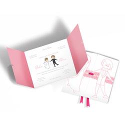 Convite de Casamento Moderno 05 - 200 unidades - 146x196mm em Envelope Perolizado 180g - 4x4 - Sem Cobertura - Faca Padrão (cód. 12615)