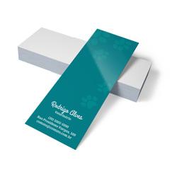 Marcador de Página - 48x268mm em Couché Brilho 300g - 4x0 - Verniz Total Brilho Frente -
