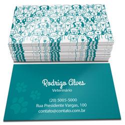 Cartão de Visita - 20.000 unidades - 48x88mm em Couché Brilho 250g - 4x4 - Verniz Total Brilho F/V -  (cód. 4555)