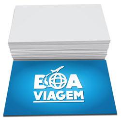 Cartões de Visita - 48x88mm em Couché Brilho 300g - 4x0 - Sem Cobertura -