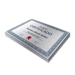 Certificados - 25 unidades - 210x297mm em Constelation 215g - 4x0 - Sem Cobertura -  (cód. 3094)