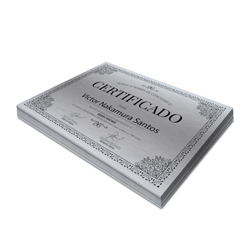 Certificados - 25 unidades - 210x297mm em Platinum 300g - 4x0 - Sem Cobertura -  (cód. 3310)