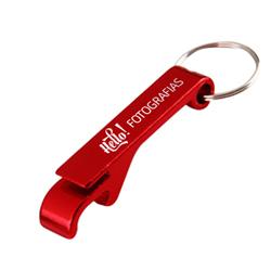 Chaveiro Abridor Vermelho - 25 unidades - 65x10mm em Metal   - 1x0 -  - Personalizado (cód. 21816)