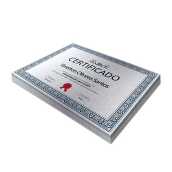 Certificados - 250 unidades - 210x297mm em Constelation 215g - 4x0 - Sem Cobertura -  (cód. 3297)