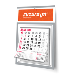 Folhinha Comercial - 250 unidades - 270x370mm em Duplex Prata 300g - 4x0 - Sem Cobertura - Furo 7mm - Bloco Calendário 2020 (cód. 2373)