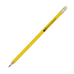 Lápis Amarelo - 250 unidades - 7x50mm em Madeira Resinada  - 4x0 -  - Personalizado - Com Borracha (cód. 21861)