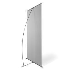 Suporte L para Banner - 3 unidades - 2000x800mm em Plástico  - Sem impressão -  - Aste Flexível de Fibra de Carbono (cód. 23390)