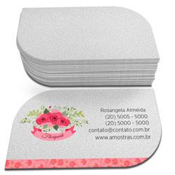 Cartões de Visita - 48x88mm em Perolizado 250g - 4x0 - Sem Cobertura - Corte Folha