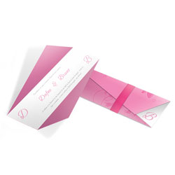 Convite de Casamento Moderno 01 - 300 unidades - 61x210mm em Envelope Perolizado 180g - 4x4 - Sem Cobertura - Faca Padrão (cód. 12589)