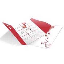 Convite de Casamento moderno 03 - 300 unidades - 127x140mm em Envelope Couché 250g - 4x4 - Sem Cobertura - Faca Padrão (cód. 12604)