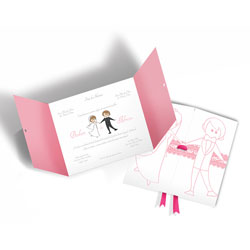 Convite de Casamento Moderno 05 - 300 unidades - 146x196mm em Envelope Perolizado 180g - 4x4 - Sem Cobertura - Faca Padrão (cód. 12616)