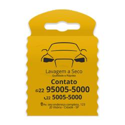 Lixeira para Carro Impressão em Preto - 300 unidades - 175x260mm em TNT Amarelo   - 1x0 - Sem Cobertura - Impressão em Preto (cód. 23303)