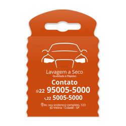 Lixeira para Carro Impressão em Branco - 300 unidades - 175x260mm em TNT Laranja   - 1x0 - Sem Cobertura - Impressão em Branco (cód. 23335)