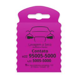 Lixeira para Carro Impressão em Preto - 300 unidades - 175x260mm em TNT Pink   - 1x0 - Sem Cobertura - Impressão em Preto (cód. 23348)