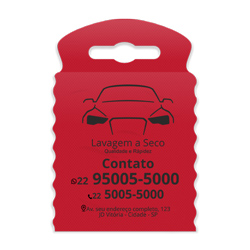 Lixeira para Carro Impressão em Preto - 300 unidades - 175x260mm em TNT Vermelho   - 1x0 - Sem Cobertura - Impressão em Preto (cód. 23376)