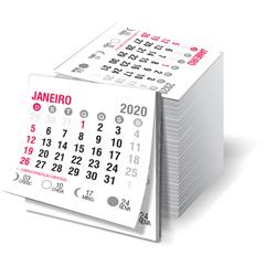 Bloco de Calendário para Ímã de Geladeira - 3.000 unidades - 45x50mm em Sulfite 63g - 2x0 - Sem Cobertura - Destacado - Bloco Calendário 2020 (cód. 22022)