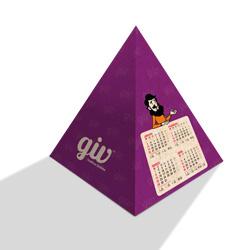 Calendário Pirâmide Simples