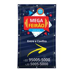 Banner para Cavalete Cavelete - 5 unidades - 960x450mm em Lona Brilho  340g - 4x0 - Sem Cobertura - Ilhós - Duas Faces (cód. 23527)