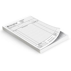Blocos 100x1 - 148x210mm em Sulfite 75g - 1x1 - Sem Cobertura - Blocagem 100x1 Via