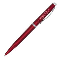 Caneta Executiva Vermelha - 50 unidades - 4x40mm em Plástico  - 4x0 - Sem Cobertura -  (cód. 19986)
