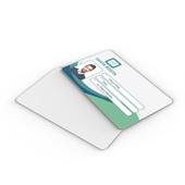 Carteirinha Personalizada em PVC Branco 0,76mm com Laminação Cristal
