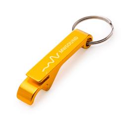 Chaveiro Abridor Amarelo - 50 unidades - 65x10mm em Metal   - 1x0 -  - Personalizado (cód. 22633)