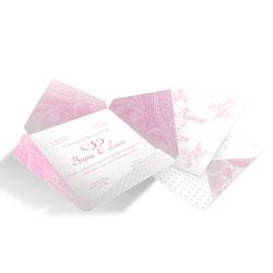Convite de Casamento Moderno 02 - 50 unidades - 182x182mm em Envelope Perolizado 180g - 4x4 - Sem Cobertura - Faca Padrão (cód. 12591)