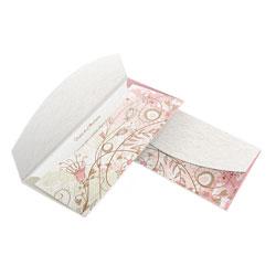 Convite de Casamento  - 80x178mm em Envelope Reciclato 240g - Lâmina Reciclato 240g - 4x0 - Sem Cobertura - Faca Padrão