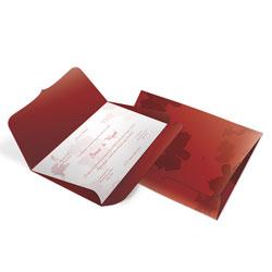 Convite de Casamento - 148x210mm em Envelope Color Plus Estampado Pequim 180g - Lâmina Couché 250g - 4x0 - Sem Cobertura - Faca Padrão