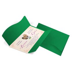 Convite de Casamento Clássico 08 Buenos Aires - 50 unidades - 142x210mm em Envelope Color Plus Buenos Aires 180g - Lâmina Couché 250g - 4x0 - Sem Cobertura - Faca Padrão (cód. 18181)