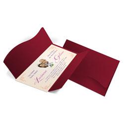 Convite de Casamento Clássico 08 Pequim - 50 unidades - 142x210mm em Envelope Color Plus Pequim 180g - Lâmina Couché 250g - 4x0 - Sem Cobertura - Faca Padrão (cód. 12434)