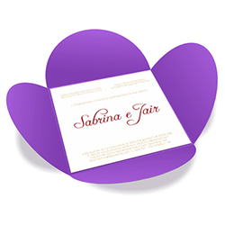Convite de Casamento Especial 07 Amsterdan - 50 unidades - 148x148mm em Envelope Color Plus 180g - Lâmina Couché 250g - 4x0 - Sem Cobertura - Faca Padrão (cód. 16406)