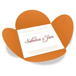 Convite de Casamento Especial 07 Cartagena - 50 unidades - 148x148mm em Envelope Color Plus 180g - Lâmina Couché 250g - 4x0 - Sem Cobertura - Faca Padrão (cód. 16389)