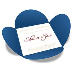 Convite de Casamento Especial 07 Toronto - 50 unidades - 148x148mm em Envelope Color Plus 180g - Lâmina Couché 250g - 4x0 - Sem Cobertura - Faca Padrão (cód. 16412)