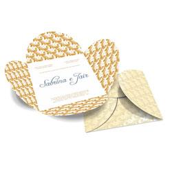 Convite de Casamento Especial 08 - 50 unidades - 148x148mm em Envelope Perolizado 180g - 4x4 - Sem Cobertura - Faca Padrão (cód. 12573)