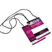 Convite Individual - 100x140mm em PVC Branco 0,3mm  - 4x4 - Sem Cobertura - Furo e 4 Cantos Arredondados Padrão - Cordão Nylon Preto 3mm